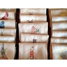 Tea towels all in a row Coral and Tusk Coral And Tusk, Linens And More, Tea Towels, Napkins, Embroidery, Instagram Posts, House Ideas, Sew, Studio