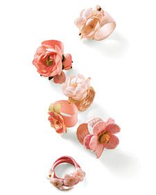 ribbon and fabric flower rings