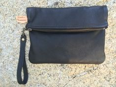 Leather Clutch/Wristlet made from buttery soft Deerskin.  Etsy:LeatherTreasuresMV