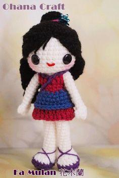 Mulan  amigurumi crochet PDFpattern