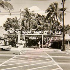 Waikiki's International Market Place 1958