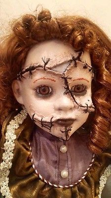 Large-26-stitched-up-repainted-ooak-horror-doll-Prop