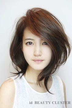 54 ideas hairstyles simple medium for women Asian Short Hair, Asian Hair, Short Hair With Layers, Layered Hair, Pretty Hairstyles, Easy Hairstyles, Medium Hair Styles, Curly Hair Styles, Hair Affair