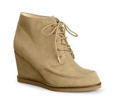 C Wonder is my new favorite store! Boots for Women - Suede Wedge Crepe Boot - 100% Leather
