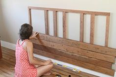 Wondrous Wood Working For Beginners Ideas Homemade Headboards, Wood Headboard, Headboards For Beds, Diy Furniture Projects, Diy Pallet Projects, Home Furniture, Backboards For Beds, Home Bedroom, Bedroom Decor
