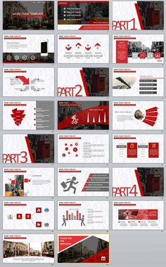 templates Video Features: Redcolor report PowerPoint templates Easy and fully editable in PowerPoint (shape color, size, position, etc) Easy customizable contents Template Web, Powerpoint Design Templates, Powerpoint Slide Designs, Professional Powerpoint Templates, Booklet Design, Flyer Template, Page Layout Design, Web Design, Design Art