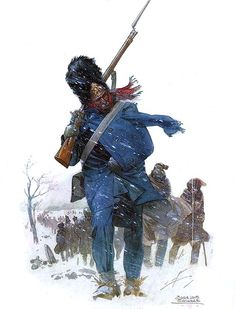 """Guerra y Paz"" José Luis Salinas. Guard Grenadier during the retreat from Moscow, 1812"