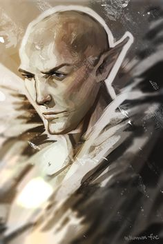 School is starting again so I paint a Solas to say goodbye T_T Also I will be selling prints through Storenvy soon!