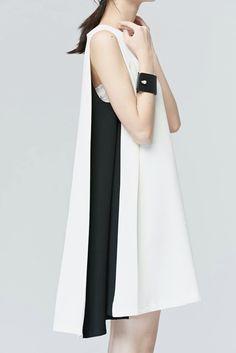 16 Trendy fashion classy modern black and white Minimal Dress, Minimal Chic, Minimal Fashion, White Fashion, Look Fashion, Fashion Details, Trendy Fashion, Womens Fashion, Fashion Design