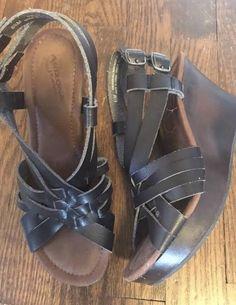 49958aa6b83 ARIZONA WOMENS WEDGE HEEL BLACK SANDALS SHOES 6.5 comfortable!  fashion   clothing  shoes