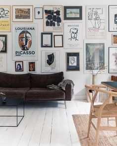 my scandinavian home: A White Danish Home Full Of Art and Scandinavian Design Classics Decoration Inspiration, Inspiration Wall, Matisse, Picasso, Bookshelves In Living Room, Dyi, Mug Design, Best Decor, Scandinavian Home