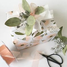 """32 Likes, 1 Comments - The Wrapping Paper Company (@wrapco) on Instagram: """"Have a great Weekend. Here's a little weekend wrapping inspo. Musk Flora wrap trimmed with a twig…"""""""