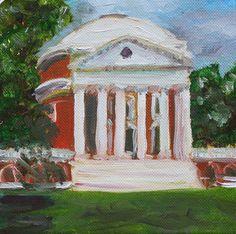 UVa rotunda paintings, painted for graduation presents