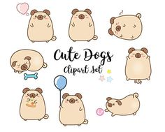 Hey, I found this really awesome Etsy listing at https://www.etsy.com/uk/listing/572577436/vector-clipart-kawaii-pugs-dogs-cute