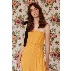 RASTI yellow long asymmetric dress, SS17, Factice Magazine