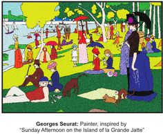 Georges Seurat was a Post-Impressionist painter who was a pioneer in the art style of Pointillism. Kids love creating art in his style that makes use of colorful dots of paint!