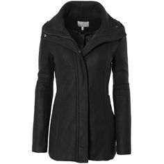 LE3NO Womens Fleece Military Pea Coat Jacket with Pockets (535 ZAR) ❤ liked on Polyvore featuring outerwear, fashion military jacket, military style pea coat, military jacket, fleece peacoat and military style peacoat