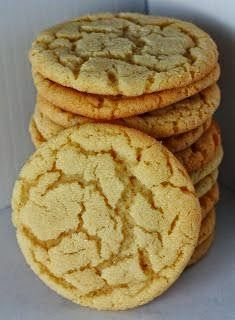 Chewy Sugar Cookies (rolled in sprinkles and cinnamon sugar; easy butter dough, doesn't get crackly top like photo but good alternative to shortening version)