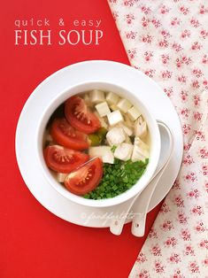 Lovely, hearty fish soup. Tried this recipe a few times with some modifications (or whatever that I can find in the house).