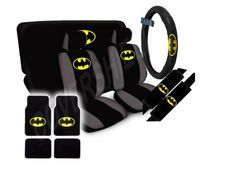 15pc SET Seat Cover DC BAT MAN Beyond Dark Knight Super Hero Wheel PAD Floor MAT | eBay