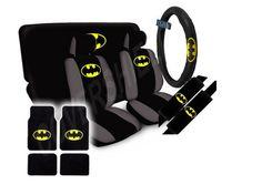 15pc SET Seat Cover DC BAT MAN Beyond Dark Knight Super Hero Wheel PAD Floor MAT | eBay
