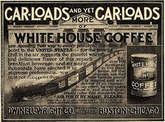 Original 1900s Paper Print Magazine Ad White House Coffee Dwinell Wright Co Modern And Elegant In Fashion 1900-09