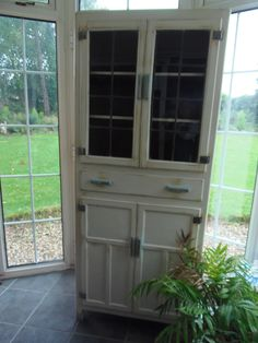 Shabby Vintage 60's Kitchen Cupboard @ Grandads Curious Attic at Dorchester Curiosity centre £175 07980568469-Open all week lots free parking