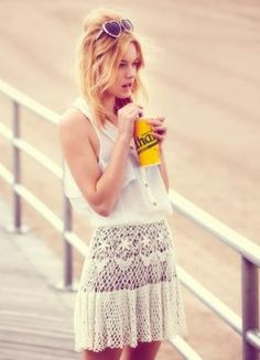 Crochet skirt from the Free People June lookbook
