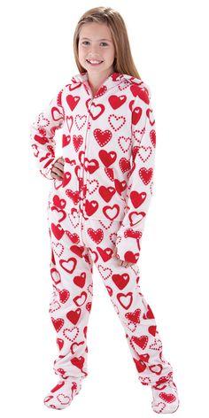 Pink Zebra Fleece One Piece Footie Pajama   Pajamas, Girls and ...