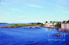 Jonesport Harbor Maine, oil painting by Rosemarie Morelli. To purchase a print of this painting visit my shopping site: http://rosemarie-morelli.artistwebsites.com