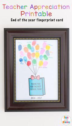 End of the year teacher appreciation gifts diy gifts from students. Great for teacher appreciation week! via @funwithmama