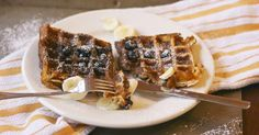 Unlike any waffle I ever ate.  Waffles and Cream: simplelivingeating.com http://www.simplelivingeating.com/2015/04/waffles-and-cream-french-fridays-with.html#more