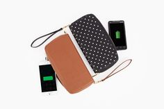 The Power Wallet - A handy and fashionable wallet with a backup battery for your phone hidden within. ($79.99, http://photojojo.com/store)