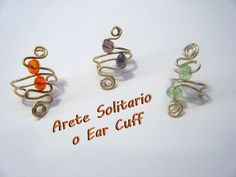 Arete tipo solitario o Ear cuff