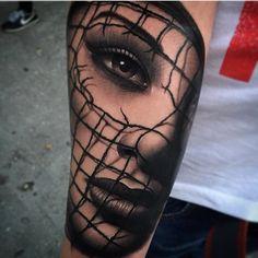 Realistic Tattoo by Samuel Rico