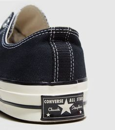 sports shoes 2243d 286a7 Converse Chuck Taylor All Star  70 Lo Converse 70s, Black Converse, Jack  Purcell