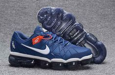 Nike Air Max 2018 Leather Blue White Running Shoe