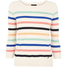 OASIS Stripey Jumper ($62) ❤ liked on Polyvore