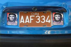 Vintage Turquoise Car in Havana Cuba  with by BluebellandtheFox, $4.00