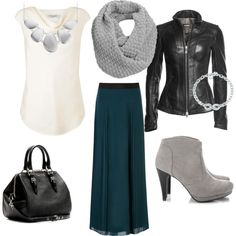 """""""Long skirt outfit for fall"""" by segudkina on Polyvore"""