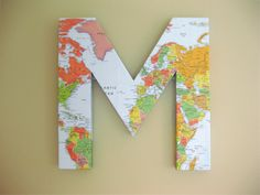DIY Large Map Initial Tutorial from Ambrosia Creative