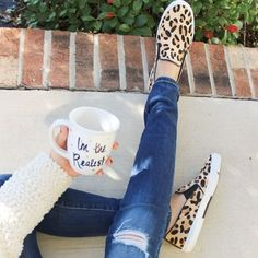 comfy Leopard slip-on- Slip on shoes fashion trend http://www.justtrendygirls.com/slip-on-shoes-fashion-trend/