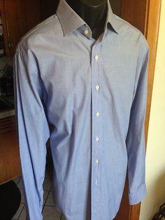 Polo Ralph Lauren Mens Classic Fit Regent Dress Shirt Blue 16.5/36-37