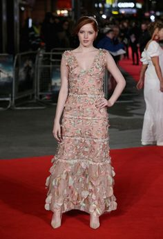 Ellie Bamber in Chanel - 'Pride and Prejudice and Zombies' - European Film Premiere - Red Carpet - February 1, 2016