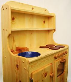 Large Wooden Play Kitchen by Heartwood Natural Toys on Etsy, $350.00