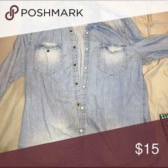H&m men's denim button down No sign of wear H&M Shirts Dress Shirts