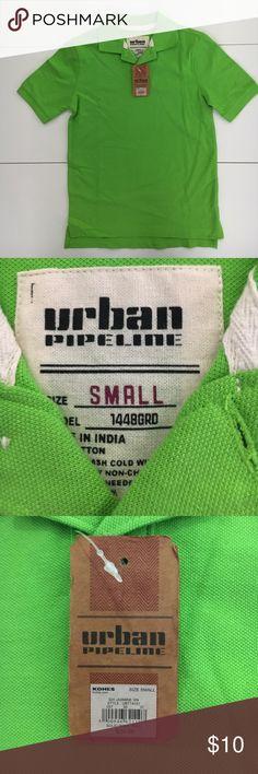 🎉NWT🎉 Boys Urban Pipeline Polo Shirt Boys Size Small Green Urban Pipeline Brand Shirts & Tops Polos