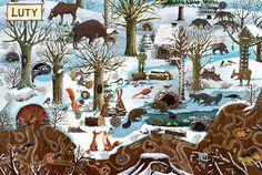 polska ilustracja dla dzieci: Zapowiedź - Rok w lesie