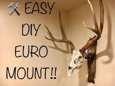 Super easy project for the do it yourself person. A modern mount with a rustic/industrial look.