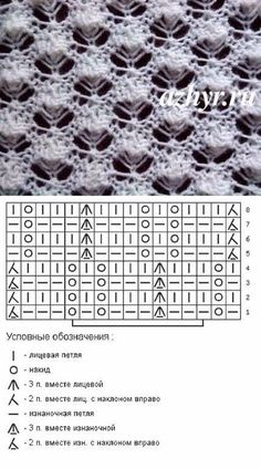 new ideas for knitting stitches unusual Lace Knitting Stitches, Lace Knitting Patterns, Knitting Charts, Lace Patterns, Stitch Patterns, Tricot D'art, Knit Crochet, Style Inspiration, Crafts